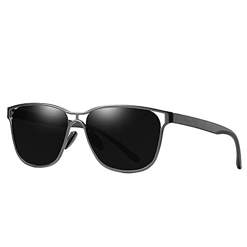 AMFG Occhiali da sole classici Uomo Occhiali da sole polarizzati all'aperto Occhiali da sole Anti-ultravioletti Guida di guida Goggles (Color : A)
