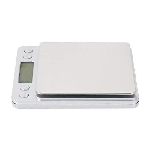 Küchenwaagen Exquisite Backmessung Elektronische Waagen Edelstahl Neuartige hochwertige Küchenwaagen Haushalt für die Küche(2kg/0.1g)