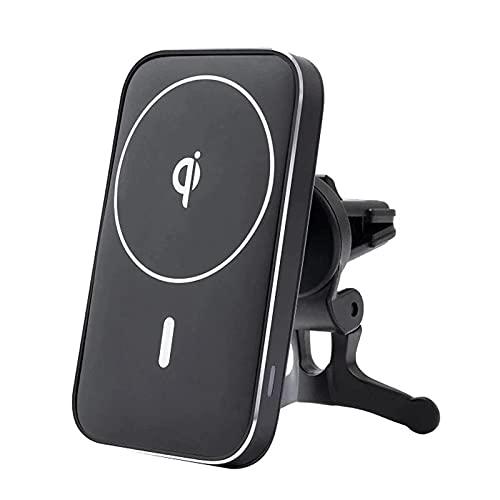 FastCharge Soporte magnético para cargador de coche [Mag-Safe Car Charger] Soporte de ventilación para iPhone 12/12 Pro/12 Pro Max/12 Mini