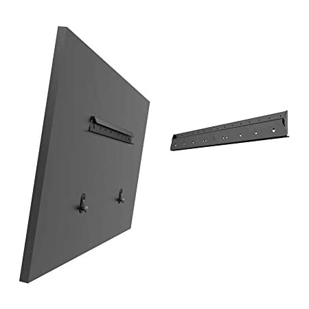 """Mount Plus MP-NS400 No Stud Tilt TV Wall Mount   Quick Studless Install with No Drill   Low Profile for 22"""" to 55"""" TVs Up to 70LBS   Steel Frame Securely Anchors TV to Dry Wall (1 Pack)"""