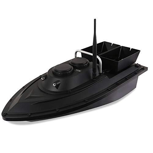 Wangkangyi Fischfinder Futterboot, 500M 2,4 GHz Angeln RC Boot Ferngesteuertes Fischerboot für Pools und Seen, Fischköder 1.5kg, Wasserdicht Schiff Ferngesteuert Bait Boat mit Doppelköderbox
