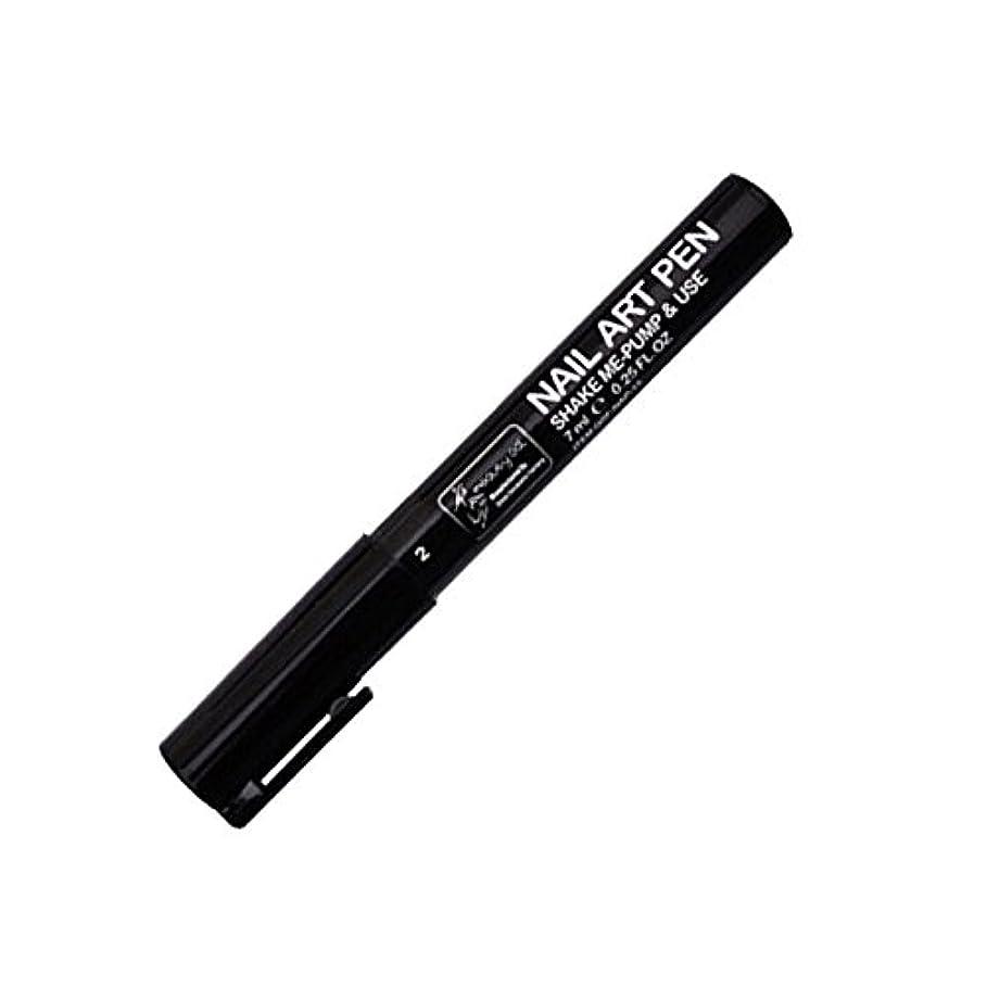 高度アンペア群集STARDUST ネイルアートペン 全16色 セルフネイル フレンチ マニキュア ペン 3Dネイル ペイント メイク 美容用品 (2.ブラック) SD-NAILPEN-2