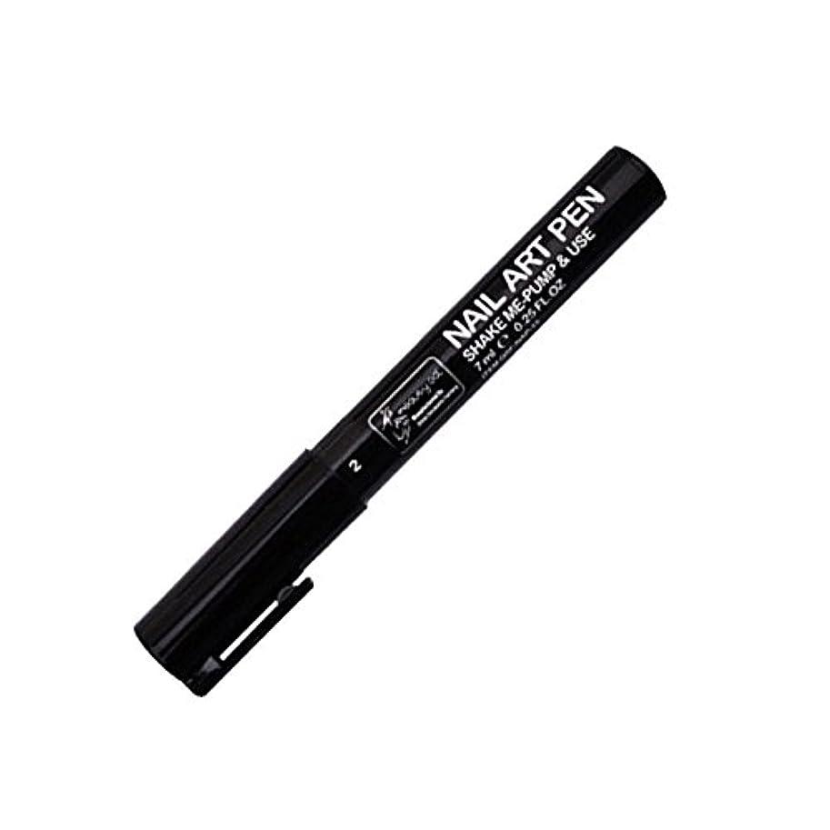 夫隙間帳面STARDUST ネイルアートペン 全16色 セルフネイル フレンチ マニキュア ペン 3Dネイル ペイント メイク 美容用品 (2.ブラック) SD-NAILPEN-2