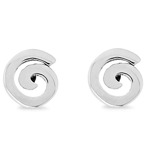 Boma Jewelry Sterling Silver Spiral Stud Earrings