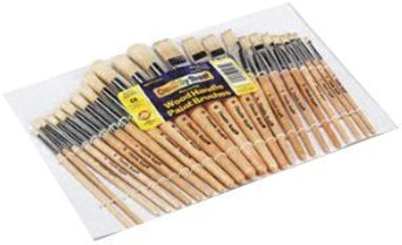 Wood Natural Bristles Hog Brushes, Round, Flat  12 12 by (Chenille Kraft Paper English Manual)