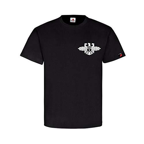 Bundespolizei Abzeichen BPOL Bundesgrenzschutz GSG9 Wappen T Shirt #26352, Farbe:Schwarz, Größe:Herren M