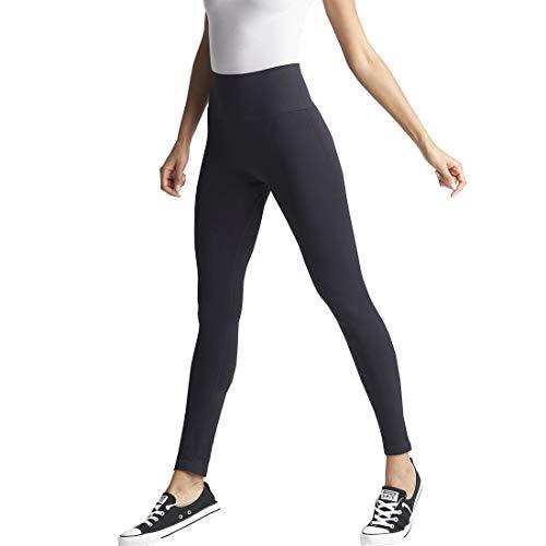 Yummie Women's High Waist Tummy Shaping Legging Sockshosiery, Black, M/L