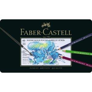 Faber-Castell Künstler-Aquarellstift Albrecht Dürer 60 Farben Sortiert im Metalletui