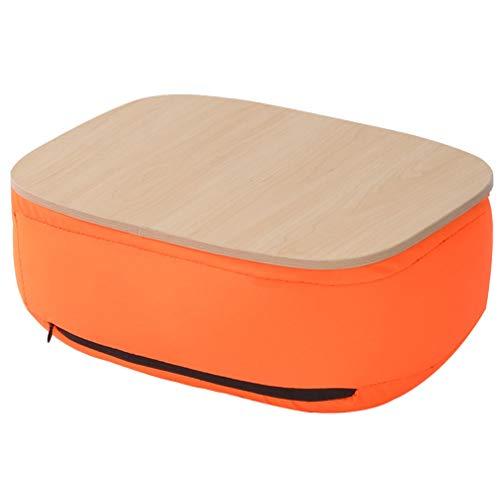 iplusmile Schoot Bureau Draagbare Laptop Bureau Met Kussen Multifunctionele Stoel Pad Mat Rugsteun Voor Kantoor Aan Huis Reizen Bank (Oranje)