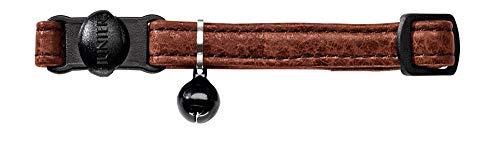 HUNTER Cody Katzenhalsband, Leder, rustikal, weich, Sicherheitsverschluß, dunkelbraun