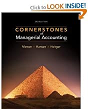 Cornerstones of Managerial Accounting 3rd (Third) Edition byHansen