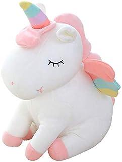 40cm 1pcs Dream Rainbow Angel Unicorn Plush Toys lovely version Unicorn stuffed animal horse pillow doll children toys