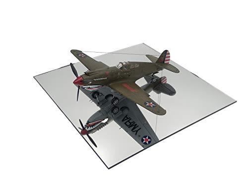 LASERPLAST Peana base modelismo cuadrada en metacrilato de espejo 25x25 cm - Pack 3 unidades Soporte pedestal hobbies, Wargames - Peana comercio escaparate (Tamaño 25 x 25 cm, 3 unidades)