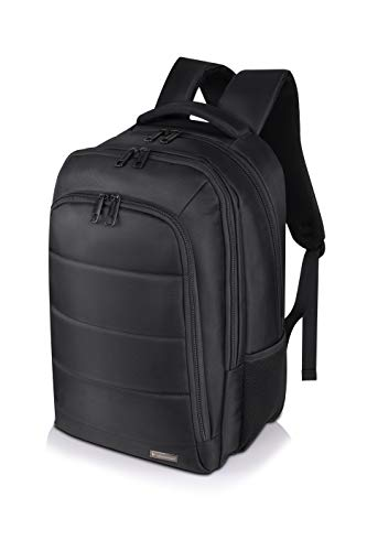 Vegmann AV017 Laptop Notebook Backpack with Laptop Compartment 15.6 Inches Waterproof Laptop Bag 44 cm 20 Litres Black