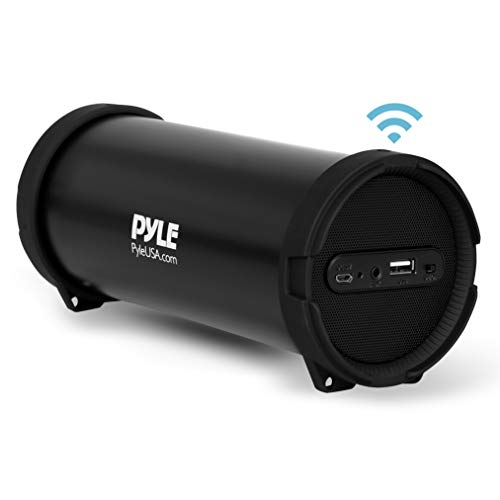 Pyle Surround Portable Boombox Wireless Home Speaker Stereo System, Built-in Rechargeable Battery, MP3/USB/FM Radio with Auto-Tuning, Aux Input Jack for External Audio. (PBMSPG6)