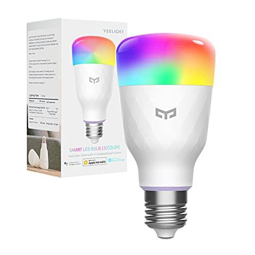 LED Smart Light Bulb 60W Equivalent, YEELIGHT A19 LED Wi-Fi Smart Bulb, RGBW Color Changing Bulb, Work with Apple HomeKit, Alexa & Google Assistant, SmartThings, Razer Chroma, Smart Home Lighting