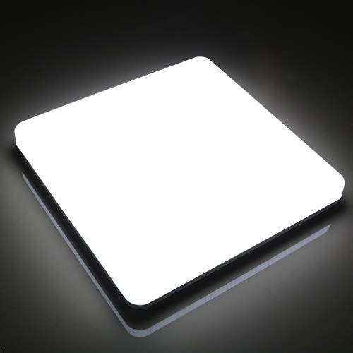 Lamker Led Deckenleuchte 24W Deckenlampe IP44 Wasserfest Warmweiß 6000K 2160LM Panel Kein Flimmern Lampe für Schlafzimmer Badezimmer Balkon Flur Bad Küche Wohnzimmer Ersetzt 150W Glühbirne