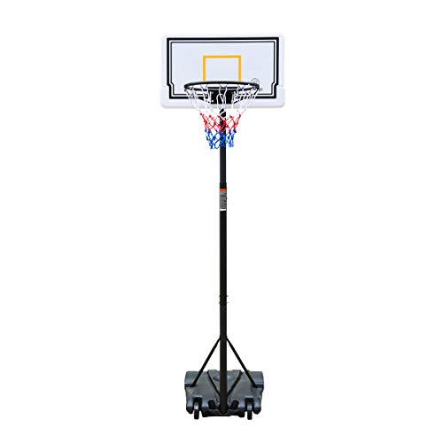 HooKung Portable Junior Basketball Hoop Stand Free Standing with 28