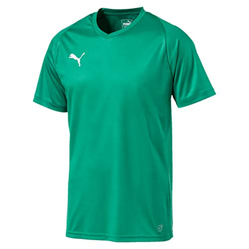 PUMA LIGA Jersey Core T-Shirt, Hombre, Pepper Green-Puma White, L