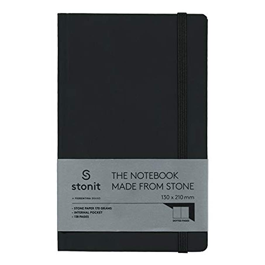 Stonit Hard Cover Dot Notebook - Black 5 x 8 (ST002-B)
