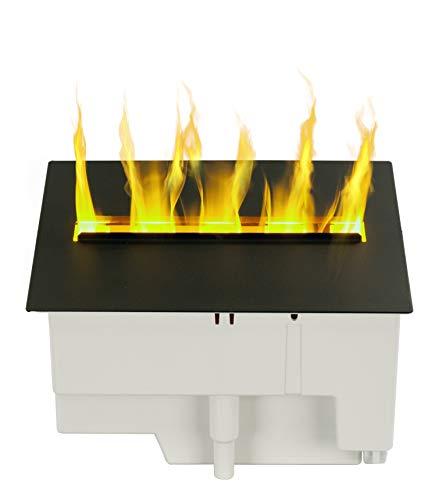 DIMPLEX - Chimenea eléctrica Cassette 250 - Nebulización de Agua LED - Efecto Llamas 3D Optimyst Patentado - Cubierta de Aluminio - Incluye Mando a Distancia