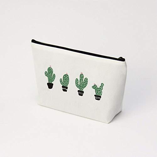 POMU Kosmetiktasche für Damen, Reise-Organizer, modischer Aufdruck, Make-up-Tasche, Kaktus, Kulturbeutel 1