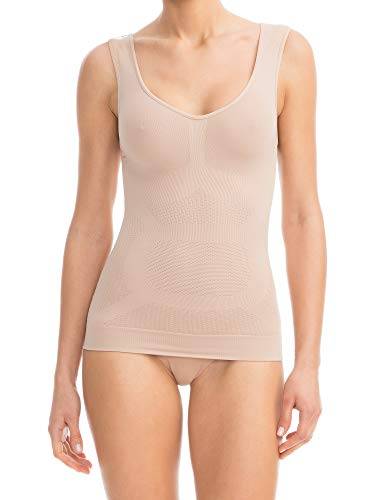 Farmacell 342 (Carne, L/XL) Camiseta Moldeadora, masajeadora, contenitiva y con Efecto Push-up ✅