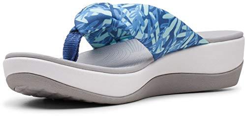 Clarks Women's Arla Glison Flip Flop, Blue Interest, 7 M