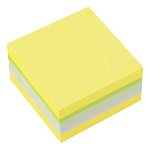 D.RECT 110624 ZITRUSFRUCHT Haftnotizwürfel Super Sticky Notes Selbstklebende Haftnotizzettel in 75x75mm 400 Blatt Neon
