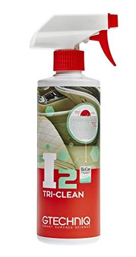 Gtechniq I2 Tri-Clean 500 ML - Nettoie en Profondeur Toutes Les Surfaces - détruit 99,9% des bactéries, moisissures et odeurs - Testé en Laboratoire, Technologie Anti-microbienne Biocote brevetée