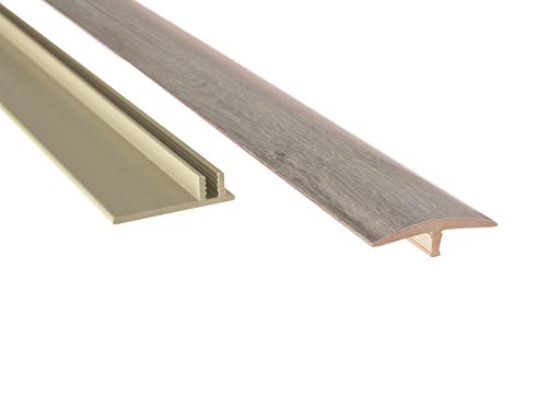 """NewAge Products Gray Oak 46"""" T-Molding Transition Strip, Flooring Accessory, 12031"""