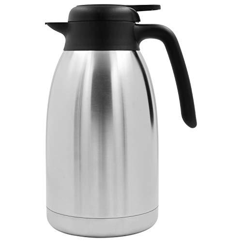 TRINKBASIS Isolierkanne 2 L – Thermoskanne aus doppelwandigem Edelstahl für bis zu 13 Tassen Kaffee, Kakao oder Tee