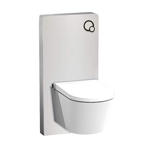 Weißglas Sanitärmodul für Wand-WC inkl. Betätigungsplatte