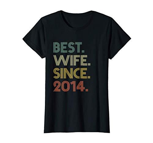 Mujer 6th Wedding Anniversary Gift Wife Since 2014 Camiseta