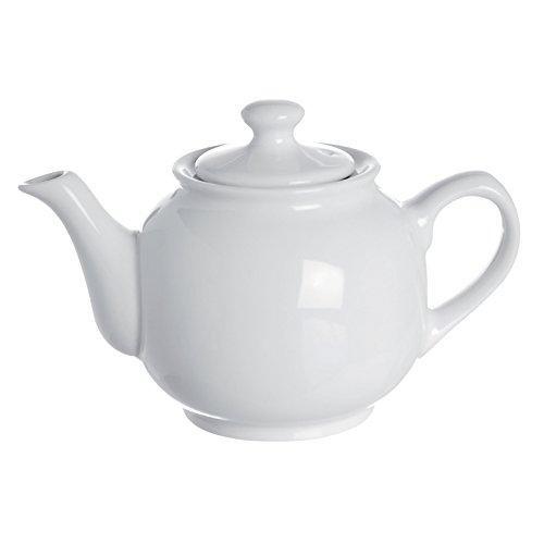 Excelsa Trendy Teiera, Ceramica, Bianco