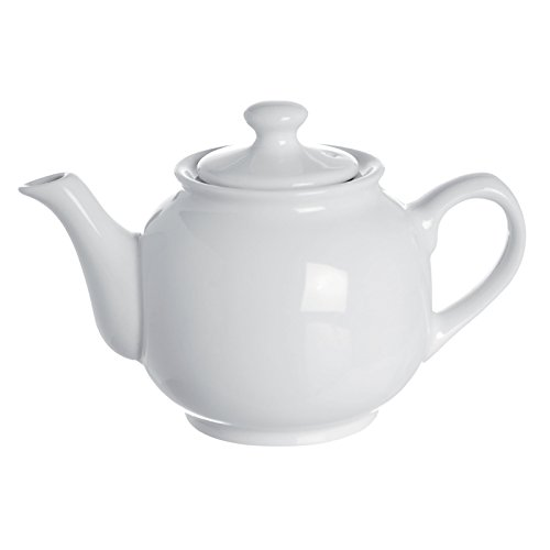 Excelsa Trendy Teiera, Ceramica, Bianco, 12 x 21 x 12 cm
