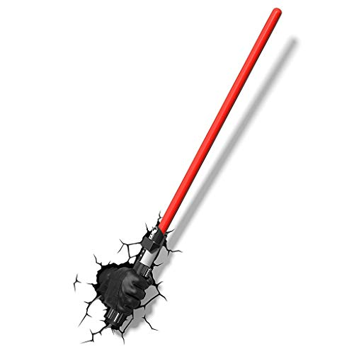 Leuchte Wandleuchte - 3D Licht FX 50030 Star Wars Darth Vader Hand- und Lichtschwert 3D-Deko-Licht, Kunststoff (Farbe : A)
