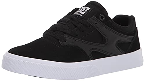 DC Shoes Herren Kalis Vulc Skateboardschuhe, Black White, 45 EU