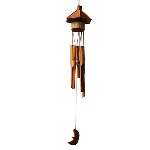 XYSQWZ Bambú Natural Oficina En Casa Decoración Colgante Colgante Hotel Hexágono Pabellón Campana Regalo Hecho A Mano Carillones De Viento Escolares Al Aire Libre