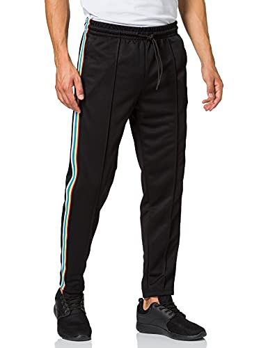 Urban Classics Side Taped Track Pants Pantalon, Multicolore (Blk/Multicolor 00562), 54 (Taille Fabricant: Large) Homme