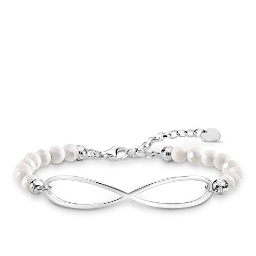 Thomas Sabo Damen-Armband Infinity Love Bridge 925 Sterling Silber LBA0125-130-14-L19v