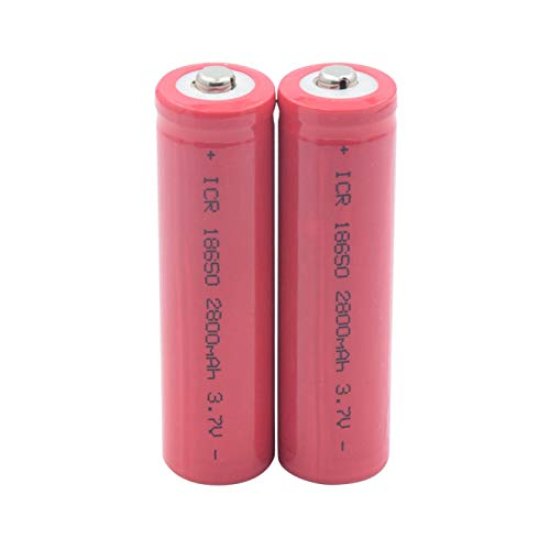 yfkjh 3.7 V 18650 2800mAh Baterías, LED Power Bank Linterna Interphone Reemplazo Celdas Baterías ICR Li-Ion 2pieces