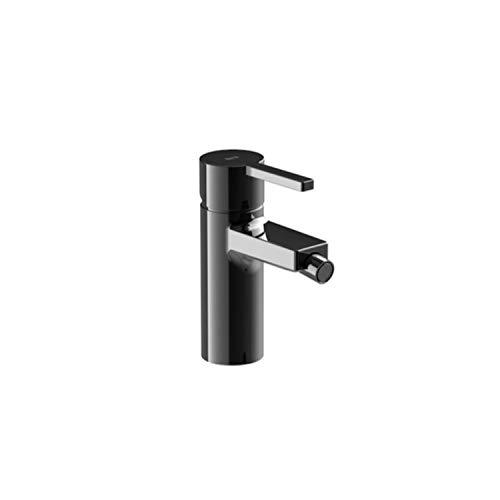Mezclador grifo monomando para bidé con desagüe automático, serie Naia, 15,2 x 10 x 15,2 centímetros, color negro titanio (Referencia: A5A6A96CN0)