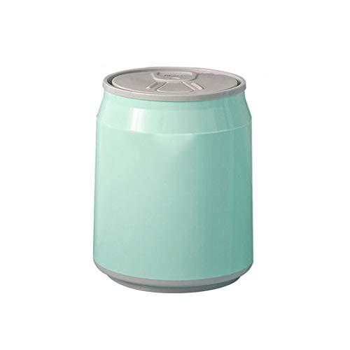 Bote de basura Cubo de basura con tapa superior de la prensa, puede dar forma cilíndrica bebida, Residuos Cesta for cuarto de baño, sala de estar, cocina y oficina, 1.8L, 6L, 14L, Verde Papelera