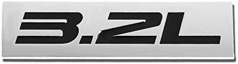 UrMarketOutlet 3.2L Black/Chrome Aluminum Alloy Auto Trunk Door Fender Bumper Badge Decal Emblem Adhesive Tape Sticker