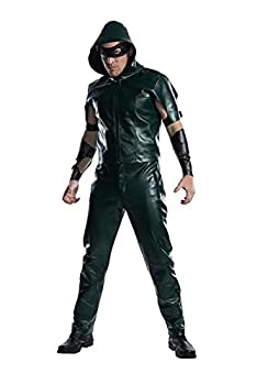 Charades Men s Licensed Arrow Hooded Shirt Costume As Shown X-Large