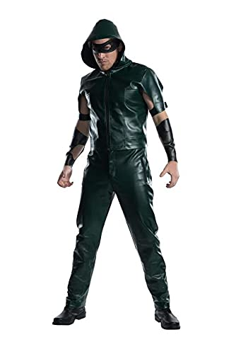Charades Men's Licensed Arrow Hooded Shirt Costume, As Shown, X-Large