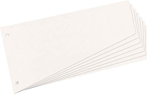 Herlitz 10838506 Trennstreifen Trapez 120x230 mm, Inh.100, weiß