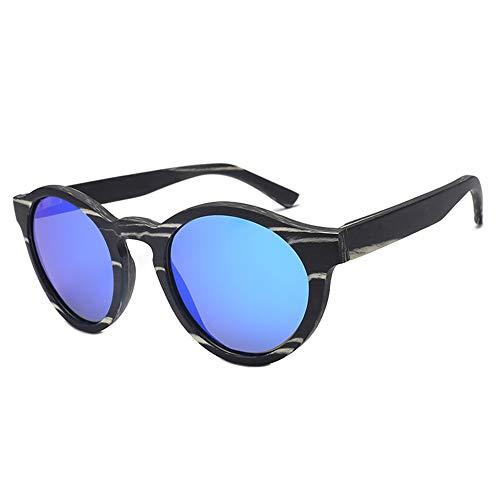 DKee Gafas de Sol UV400 Azul Gafas De Sol Polarizadas Retro Piernas De Madera Gafas De Sol Conducir Al Aire Libre Gafas Ciclismo