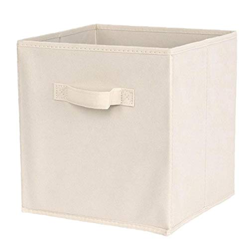 Cubos de almacenamiento plegable de tela de almacenamiento de la caja cuadrada de almacenamiento papeleras de tela no tejida plataforma de almacenamiento cesta compartimiento para niños de juguete